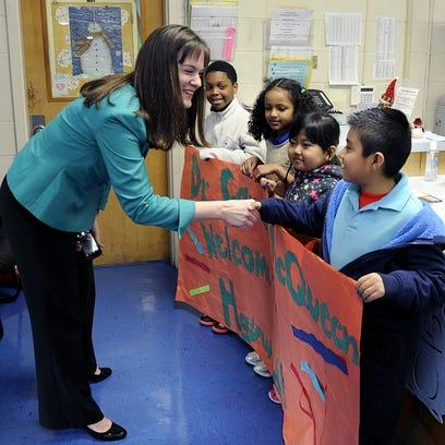 Haywood Elementary third-graders DaShawn McKissick,