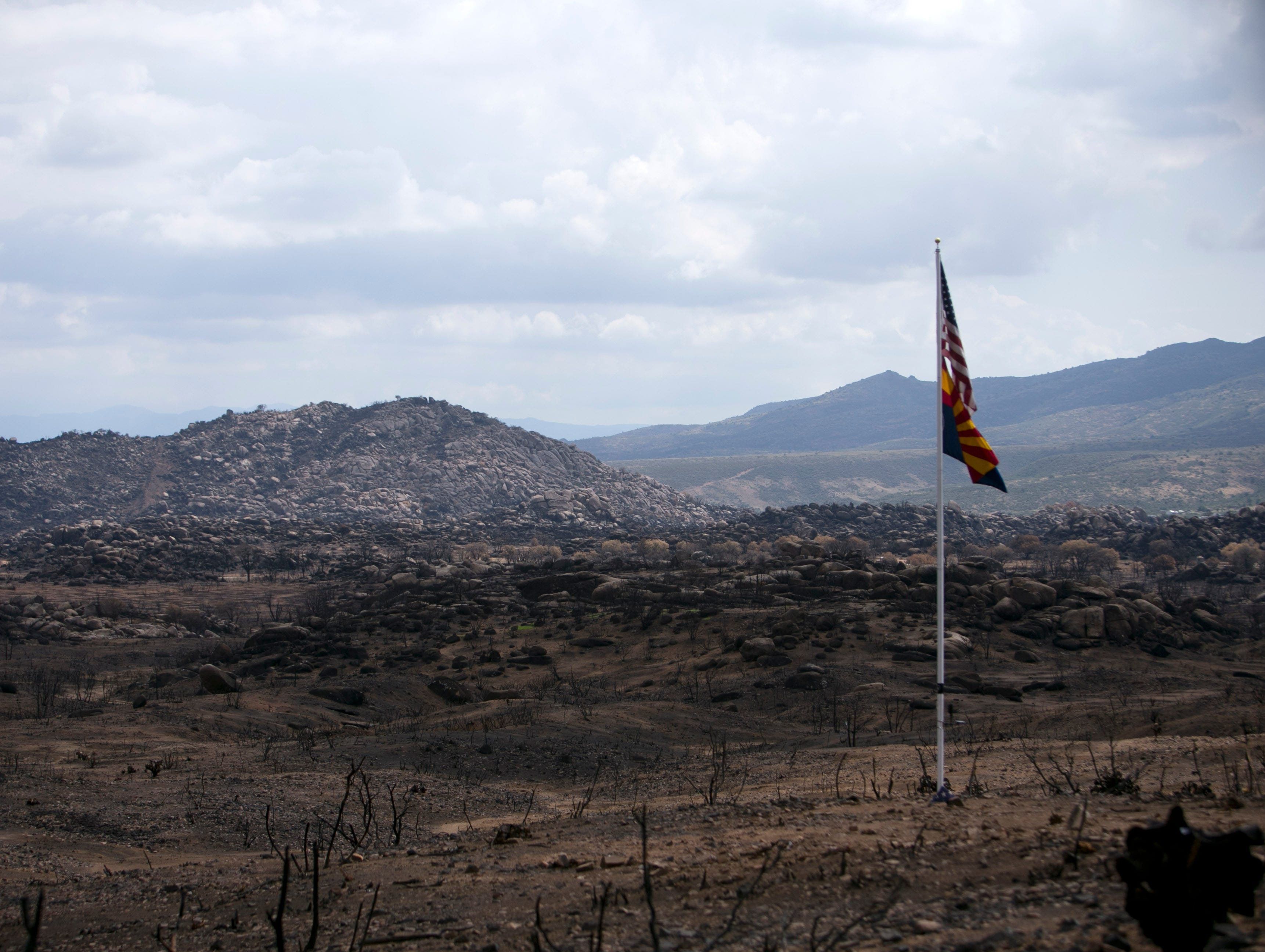 Yarnell Hill fire site where hotshots died