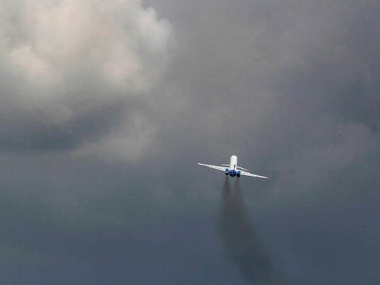An Allegiant Air flight takes off from St. Pete Clearwater International Airport.