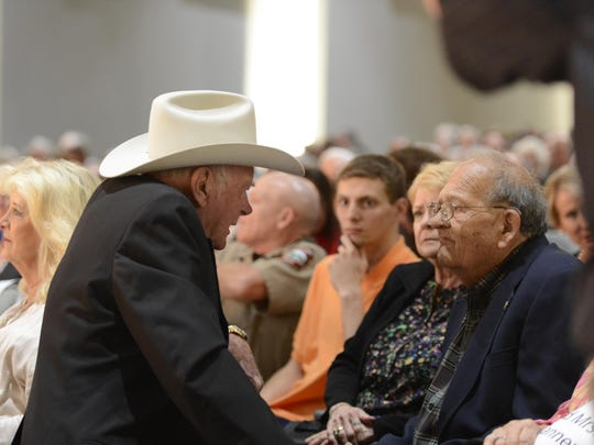 Forrest Wood, left, and Jim Gaston were longtime friends that combined their efforts on numerous projects that concerned their love for the White River.