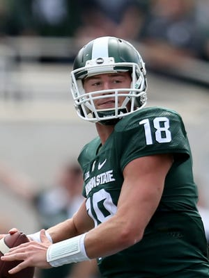 Michigan State's Connor Cook passes against Air Force Saturday.