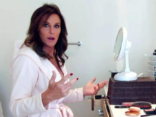 "This image provided by courtesy of E! shows Caitlyn Jenner in the first official promotional trailer for the new documentary series, ""I Am Cait,"" in Southern California. The show premieres July 26on E!."