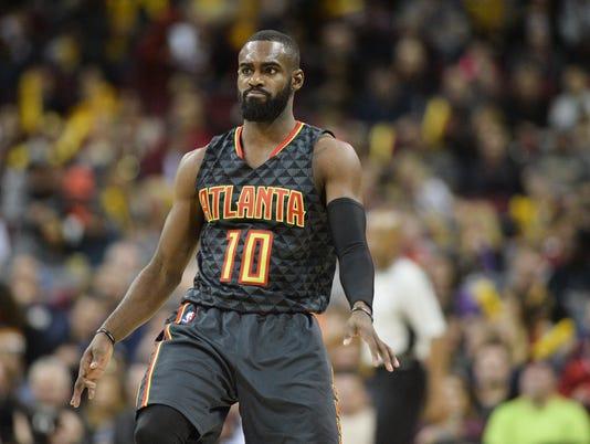 USP NBA: ATLANTA HAWKS AT CLEVELAND CAVALIERS S BKN CLE ATL USA OH