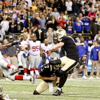 Saints kicker Kai Forbath (5) kicks a 50-yard game winning field goal against the New York Giants. Forbath will face his former team, the Washington Redskins, on Sunday, while the Redskins' kicker is Dustin Hopkins, who the Saints cut after preseason.