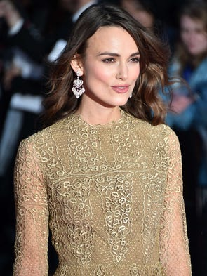 British actress Keira Knightley arrives for the BFI