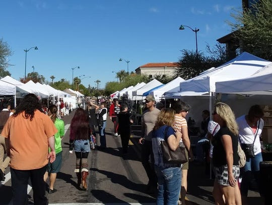 During the Downtown Mesa Festival of the Arts, patrons