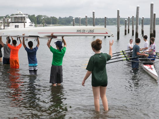 People enjoy the Navesink River for recreation but