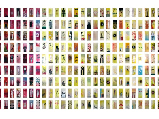 Through a series of nearly 3,000 paintings, Manju Shandler