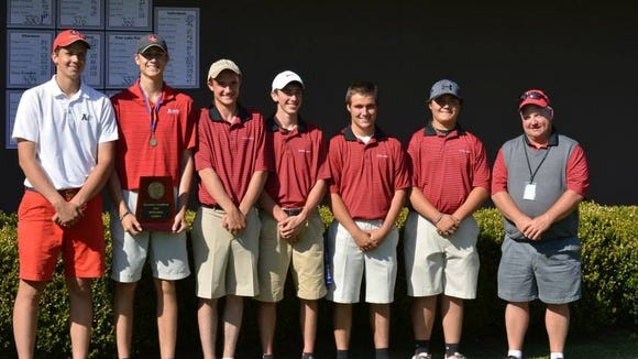 Avery County's boys golf team.