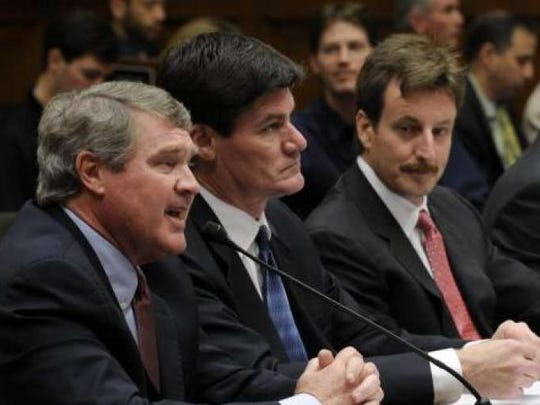Craig Thompson, second from left, testified in front of Congress to include more teams in the BCS football system. He was one of the first to call for a playoff system.