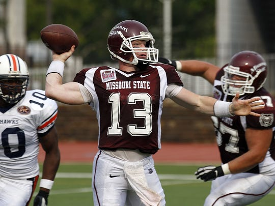 Bears QB Cody Kirby (13) during his playing days at Missouri State.