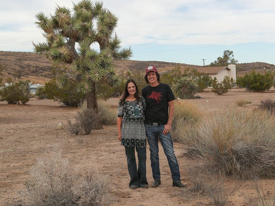 Jill and Ed MIchaels are hoping the city of Yucca Valley will allow pot cultivating operations to help bolster the local economy.  Their land is situated in a commercial zone and could be sold to pot growers.