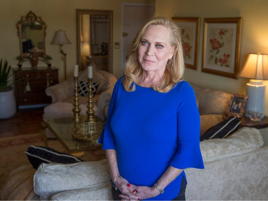 Red Bank resident Denise Ely, who has lived 20 years with a liver transplant from a 75-year-old woman, continues to thrive. She is shown in her apartment which overlooks the Navesink River.  Red Bank, NJWednesday, April 18, 2018@dhoodhood