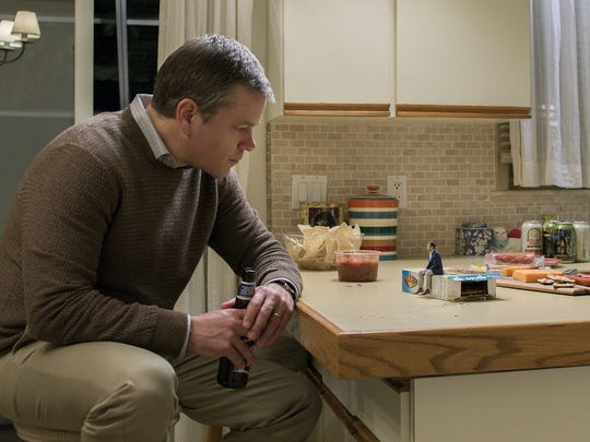 "Matt Damon ponders getting smaller in ""Downsizing."""