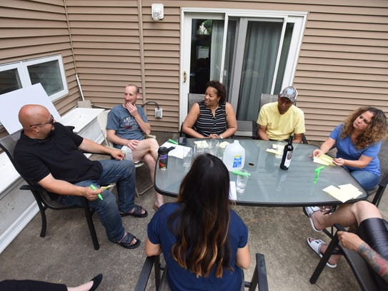 A diverse group of Westwood neighbors sat down to talk