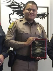 This undated photo provided by the Navajo Nation Office of the President and Vice President, shows Navajo Nation police officer James Largo. Largo died Sunday, March 12, 2017, after responding to a domestic violence call near the small town of Prewitt, N.M.