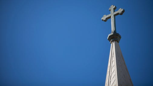 Church Steeple and Cross