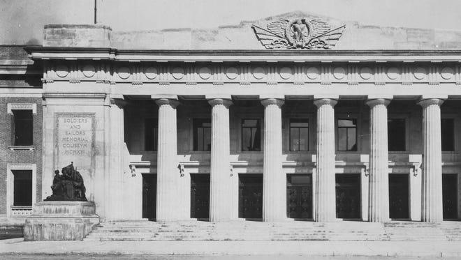 Memorial Coliseum was dedicated April 8, 1917.