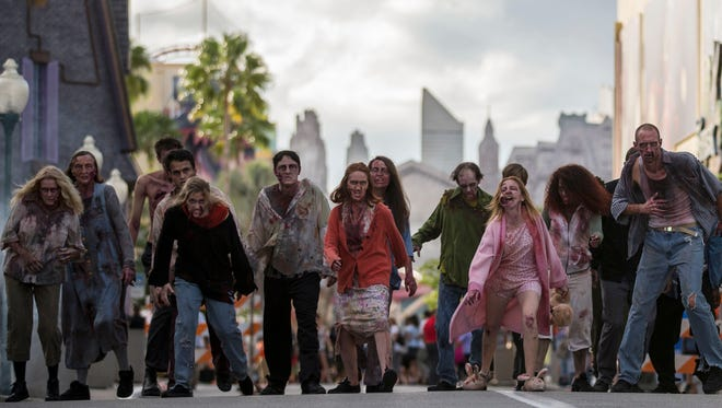 The zombies of 'The Walking Dead' will return to Universal's Halloween Horror Nights for an unprecedented third time.