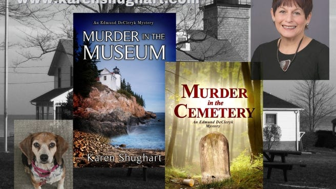 Sodus Point author Karen Shughart has written two mysteries that also feature food.