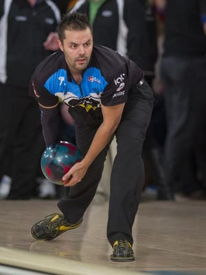 Jason Belmonte warms up Feb. 15, 2015, for the PBA Tournament of Champions at Woodland Bowl in Indianapolis.