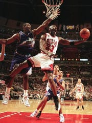 Michael Jordan won his last two NBA titles over Karl Malone and the Utah Jazz in 1997 and 1998.