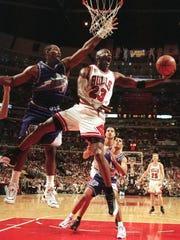 Michael Jordan won his last two NBA titles over Karl