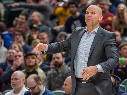 Jason Kidd spoke to the Knicks' point guards Wednesday in Phoenix, Ariz.