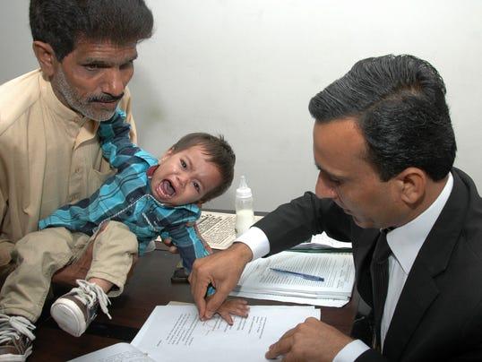 Pakistani infant charged