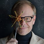 """Alton Brown entertains during his """"Edible Inevitable"""" tour. He'll return to Nashville in April for his new live show, """"Eat Your Science."""""""