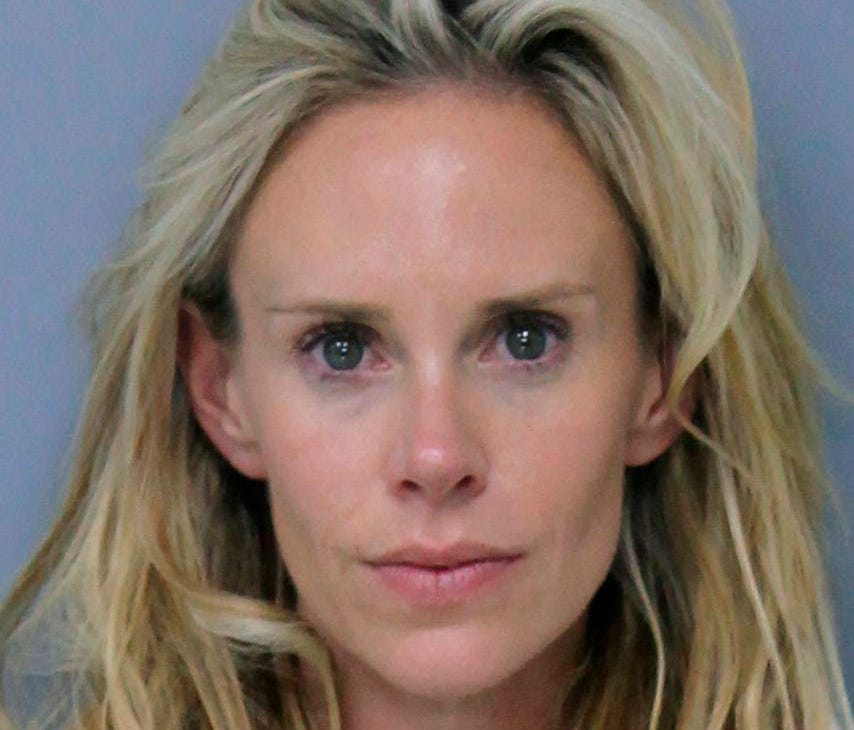 Krista Glover, the wife of former U.S. Open champion Lucas Glover, is shown in her booking photo Saturday.