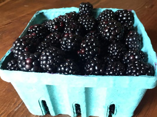 Fresh blackberries, sugar and lemon juice are all you need to make jam today.