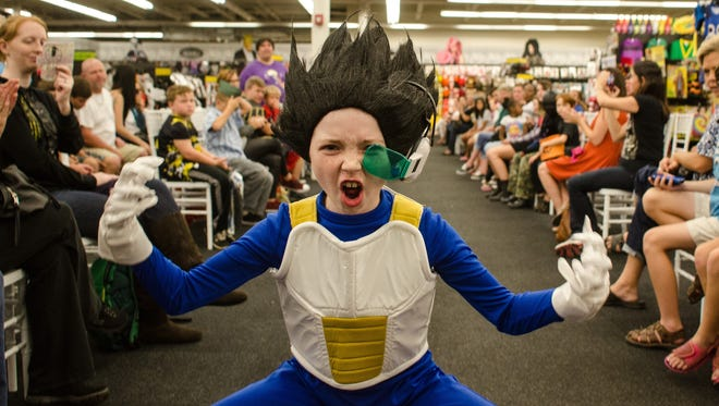 """Gabrielle Faulkner as Vegeta from """"Dragon Ball Z"""" in the Halloween Fashion Show presented by PNJ and Spirit Halloween. Costume courtesy Spirit Halloween."""