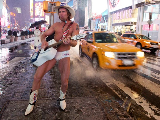 Times Square S Naked Cowboy Gets Underwear Deal