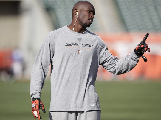 Bengals receiver Chad Ochocinco directs a drill before a game in November of 2010.