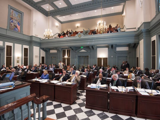 House lawmakers debate a school redistricting plan for Wilmington Wednesday at the Statehouse in Dover. The proposal passed, but lawmakers didn't get any funding for the effort.
