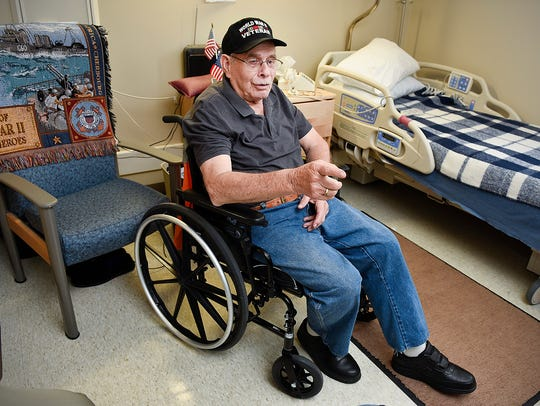 World War II veteran Gerald Olson, 89, describes his