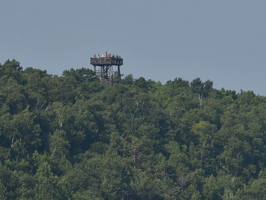 The Potawatomi State Park's observation tower in Sturgeon