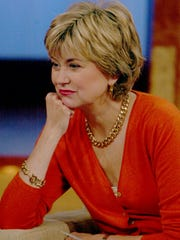 """Jane Pauley pauses during the taping of """"The Jane Pauley Show,"""" her new syndicated show at NBC studios in New York, Wednesday Aug. 18, 2004."""
