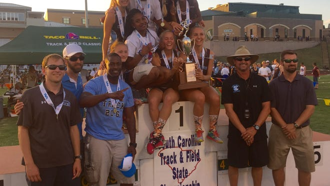 Christ Church's girls track team won the Class A state championship Saturday at Spring Valley High School.