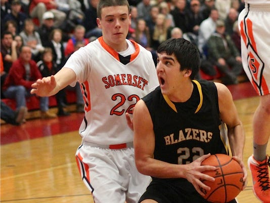 Zach Lehman led the Blazers with 19 points in Lancaster Mennonite's first round win over Somerset. The Blazers will meet up with Chartiers Valley on Tuesday at Bedford High School. GameTimePA.com-Justin Bandy