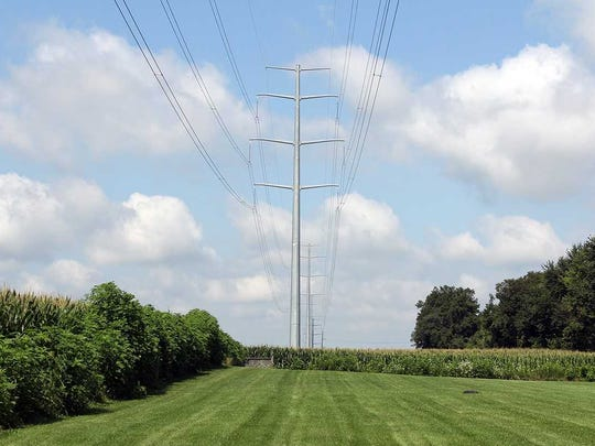 This rendering shows what Transource Energy's proposed Independence Energy Connection power line would look like.