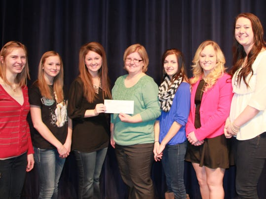Foley High School NHS Presents BBBS with Check.jpg
