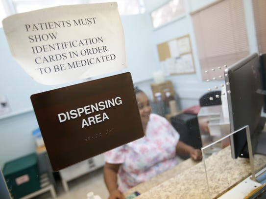 The dispensing area at the St. Joseph's Hospital methadone