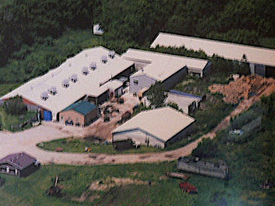 Mushrooms are grown in the big building on the left at Ned Palm's operation in Helenville.
