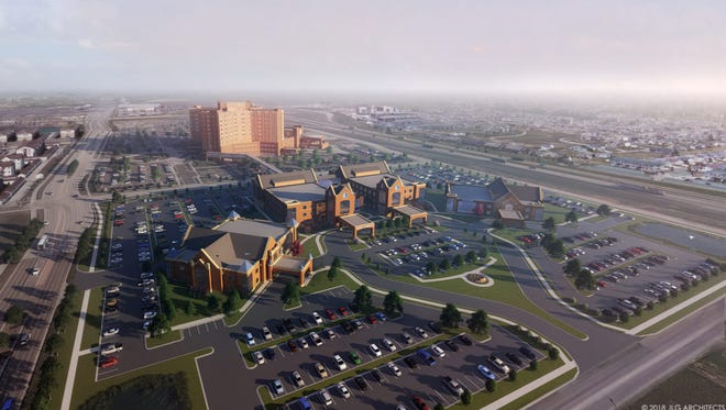 A rendering of Sanford Health's long-term plans for its Fargo, North Dakota, facilities.