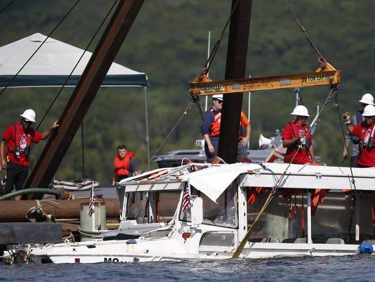 APTOPIX Missouri Boat Accident