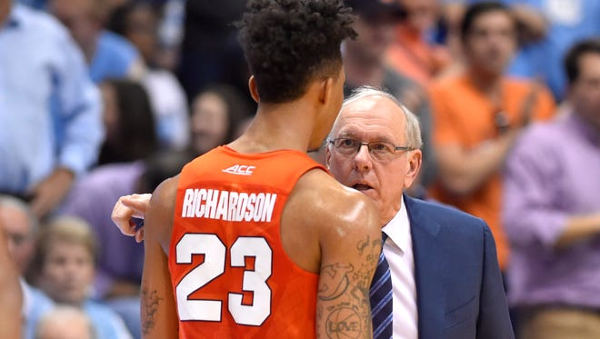 Coach Jim Boeheim will need his entire seven-man rotation, including freshman swingman Malachi Richardson, to play well to beat Pittsburgh on Wednesday.