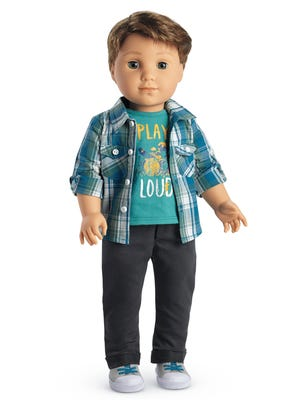 """In this undated product image courtesy of American Girl shows the doll called """"Logan Everett."""""""
