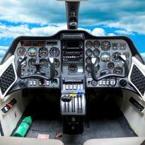 Cockpit of a plane.